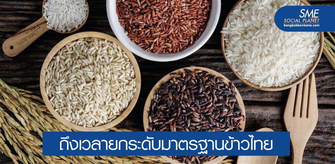 เจาะยุทธศาสตร์ข้าวไทย 5 ปี ดันไทยแหล่งผลิตข้าวมาตรฐานโลก